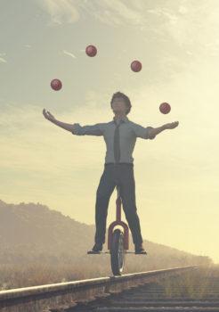 Jongleur équilibre vie pro vie perso